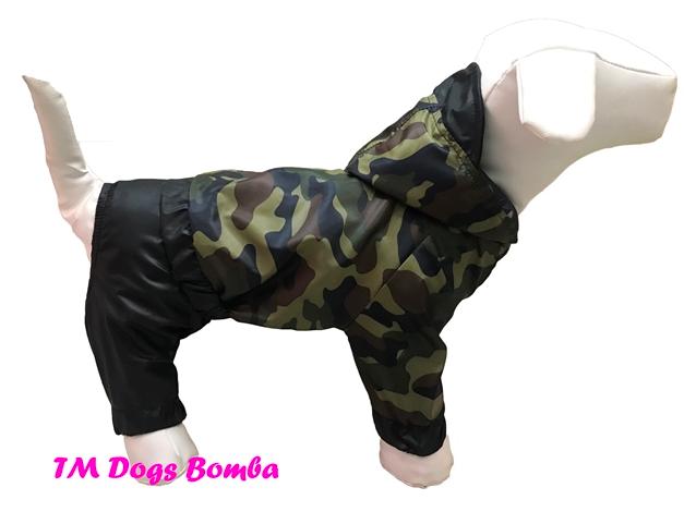 Дождевик для собак камуфляж классика DogsBomba