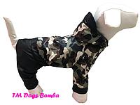 Дождевик для собак камуфляж беж DogsBomba
