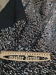 Бархат с мелкими блестящими пайетками (серебро на черном)