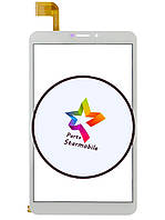 Сенсорный экран для планшета Bravis NB85 3G IPS (204*120), белый, с рамкой, тип 2, 51 pin FPCA-80A15-V01