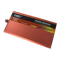 Преобразователь авто инвертор UKC 12V-220V AR 4000W c функции плавного пуска Красный sp3054, КОД: 213532