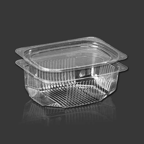 Одноразовый контейнер для еды 250мл с крышкой ПС-180 + ПС-18 10*8см 1000шт.