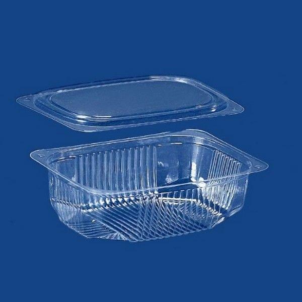 Одноразовый контейнер для еды 350мл с крышкой ПС-171 + ПС 17 13*10,5*3,3см 600шт.