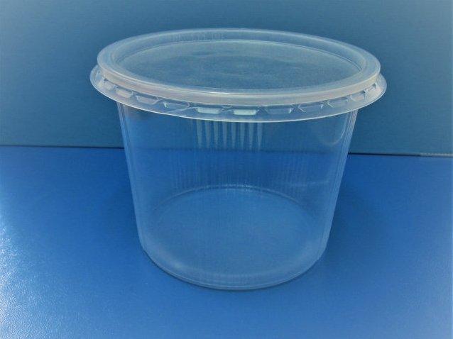 Одноразовый контейнер для еды 350мл с крышкой 1000шт РР SL110058 + 111РК d=11,5см h=7см