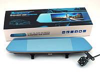 """Автомобильный Видеорегистратор зеркало DVR W700 Full HD сенсорный экран 7"""" с двумя камерами"""