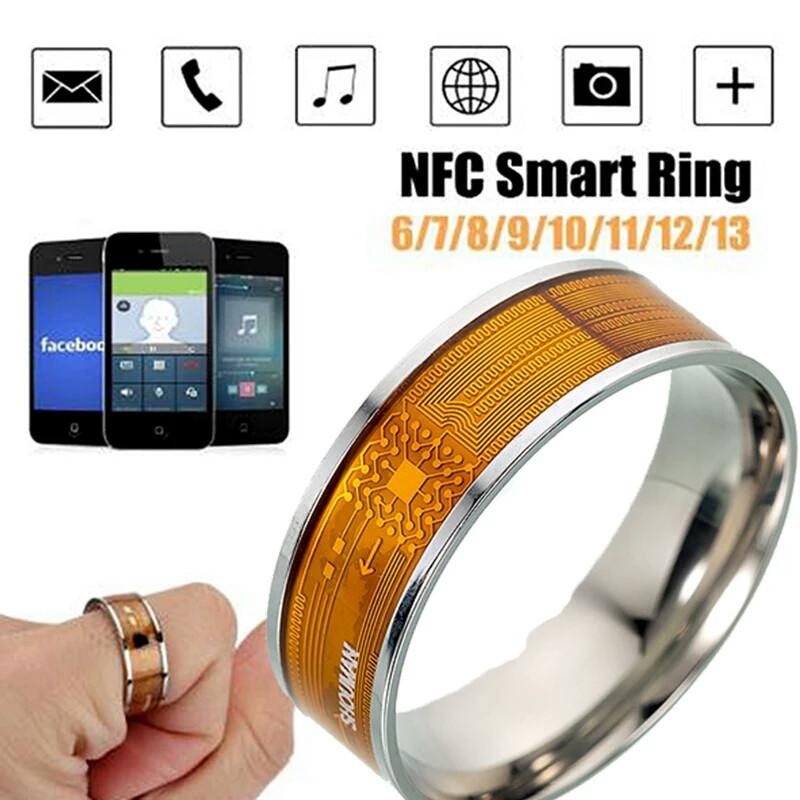 Умное кольцо NFC Smart Ring для Android Windows IOS размер 9