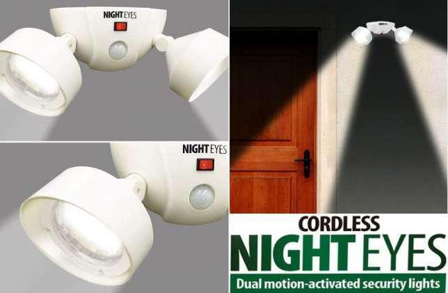 Беспроводной светильник спот с датчиком движения Cordless Night Eyes