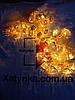"""Новогодняя светодиодная гирлянда Фигурки ЗОЛОТО """"СЕРДЕЧКО"""" 20LED 3м. теплый белый, фото 2"""