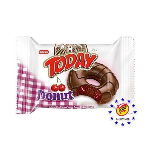 Today Donut Cherry, кекс- пончик вишня, 50 г