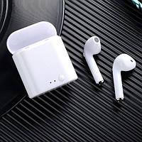 Беспроводные наушники Bluetooth i7S TWS с кейсом белые
