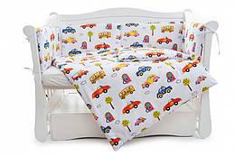 Бампер Twins Comfort line C-051 Авто белый(Защита в кроватку)