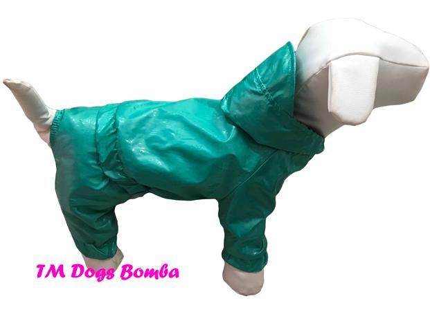 Дождевик для собак бирюза DogsBomba