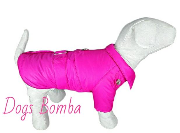 Плащ для собак малиновый DogsBomba