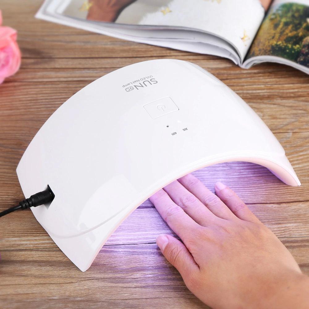 Сенсорная лампа для маникюра и педикюра LED SUN UV 9c 24w