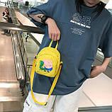 Женский маленький рюкзак Свинка Пеппа желтый, фото 2