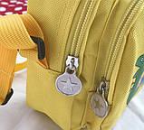 Женский маленький рюкзак Свинка Пеппа желтый, фото 4