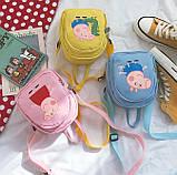 Женский маленький рюкзак Свинка Пеппа желтый, фото 3
