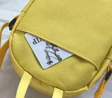 Женский маленький рюкзак Свинка Пеппа желтый, фото 5