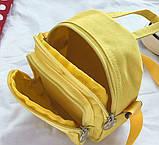 Женский маленький рюкзак Свинка Пеппа желтый, фото 6