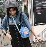 Женский маленький рюкзак Свинка Пеппа голубой, фото 3