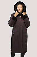 Модный легкий и теплый пуховик для женщин тинсулейт и силикон большого размера 52-64, фото 1