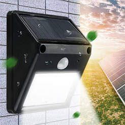 Уличный светильник на солнечной батареи Ever Brite с датчиком движения, черный