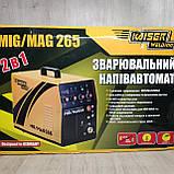 Зварювальний інверторний напівавтомат 2в1 Kaiser MIG-265, фото 9