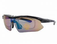 Очки тактические OAKLEY (5 цвет. линз, резинка, шнурок, чехол), жесткий кейс