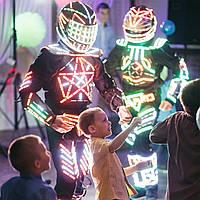 Світлові LED Роботи на дитяче свято. Аніматори. Луцьк.