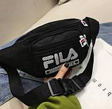 Женская бананка FILA поясная сумочка фила 8010/13 черная, фото 3