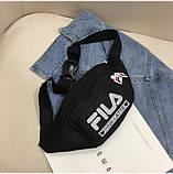 Женская бананка FILA поясная сумочка фила 8010/13 черная, фото 2