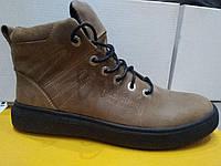 Натуральные кожаные зимние ботинки (мужские)