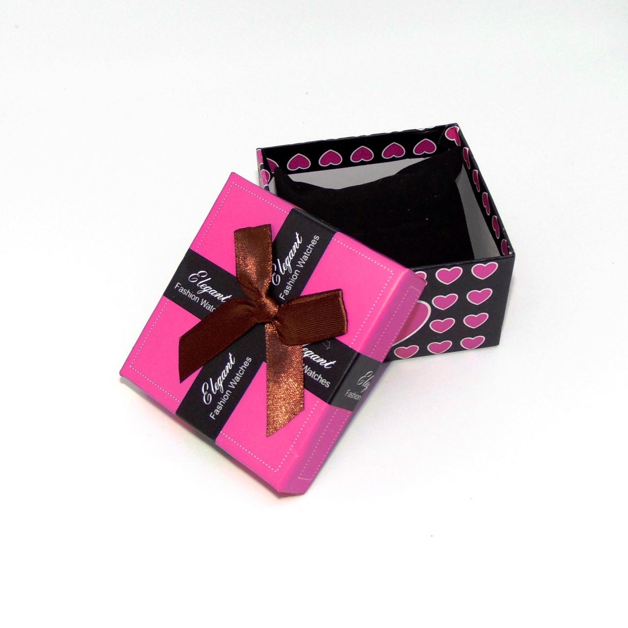 Подарочная коробка для часов (малиновый)
