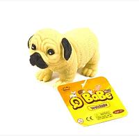 Игрушка антистресс резиновая Собака Гонконг A155-DB тянучка 9см Бульдог резиновая