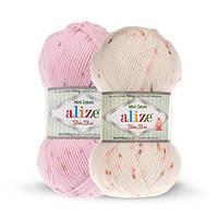 Детская акриловая пряжа от Ализе BABY BEST MINI COLORS разные цвета
