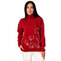 Женский свитер с цветочным принтом, фото 1