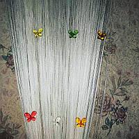 Шторы нити бабочки