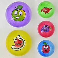 """Мяч резиновый F 22024 (400) размер 9"""", 60 грамм, 5 цветов, 8 видов"""