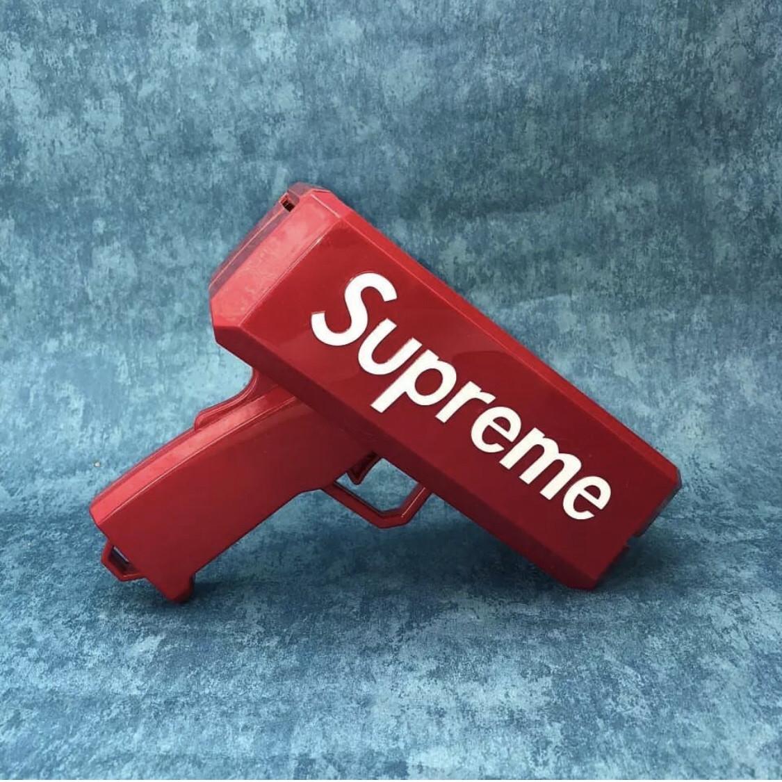 Пістолет SUPREME супрім маниган money gun метальник грошей