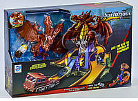 Гоночный автотрек 9988-1 Битва с драконом, реплика Hot Wheels