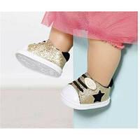 Обувь для куклы пупс Бэби борн Baby Born Блестящие кеды Gold Zapf Creation 826997