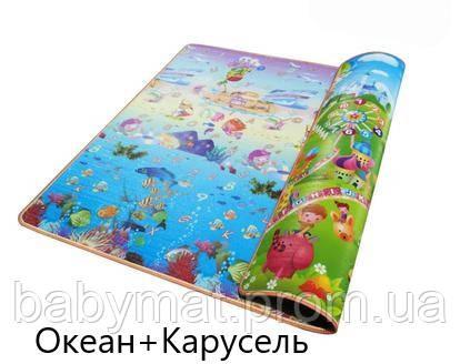 Детский теплый большой непромокаемый коврик на пол Baby Mat