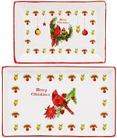 Набор 3 фарфоровых блюда Merry Christmas в подарочной коробке psgBD-283-109, КОД: 944684