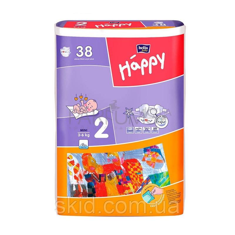 Подгузники Bella Happy Mini №2 (3-6 кг) 38 шт