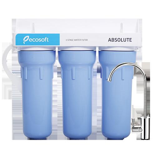 Проточний потрійний фільтр Ecosoft Absolute