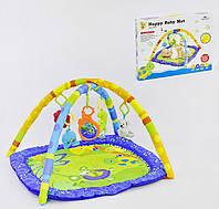Коврик игровой Small Toys D076 3 мягкие подвески + 1 музыкальная 2-72378, КОД: 1250476