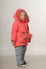 Детский зимний комбинезон для девочки Пчелка | размеры  92-110, фото 2