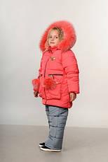 Детский зимний комбинезон для девочки Пчелка | размеры  92-110, фото 3