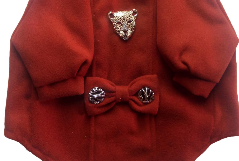 Пальто Тигр кашемир рыжее для собак DogsBomba