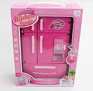 Музичний іграшковий холодильник для ляльок Барбі світло, звук SY-2079-1 / лялькова меблі / меблі д